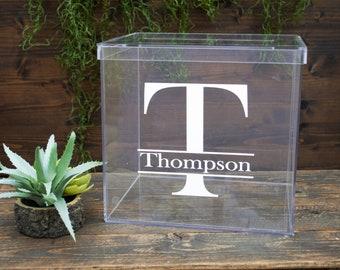 Acrylic Wedding Card Box With Slot Personalized Card box Wedding Card Holder Clear Card Box Plexi Glass Card Box Wedding Card Box Lucite
