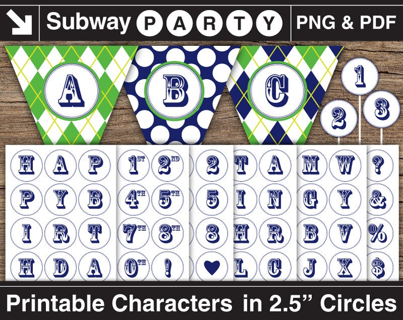 Printable Navy Alphabet Letters & Numbers in 2 5