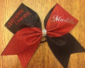 Cheer bow custom Vampire Diaries