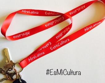 AfroLatina EsMiCultura Keychain
