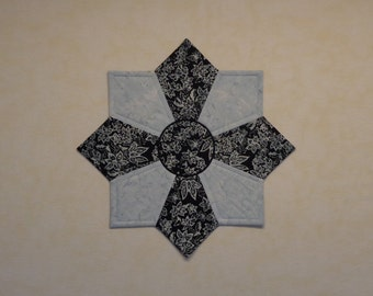 """Quilted Table Topper, SMALL, Quilted Table Centerpiece, Square Cross Table Topper, Mother's Day Gift Idea  """"Butterfly Reflections"""""""