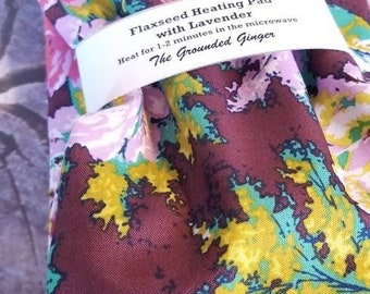 Flaxseed Heating Pad || Heating Pad|| Lavender|| Flaxseed Pillow||Neck Wrap|| Heat Pad || Aromatherapy || Gift Under 20