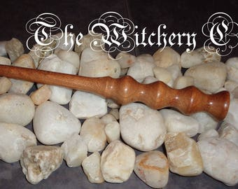 Handcrafted Ritual Wand made from scottish Windfall Wood - Semi-size Wand - Altar Tool made in Scotland (S12)