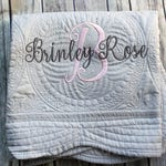 Personalized Baby Quilt, Monogrammed Baby Quilt, Personalized Quilt, Monogrammed Quilt, Baby Blanket, Quilted Crib Blanket, Baby Gift, =
