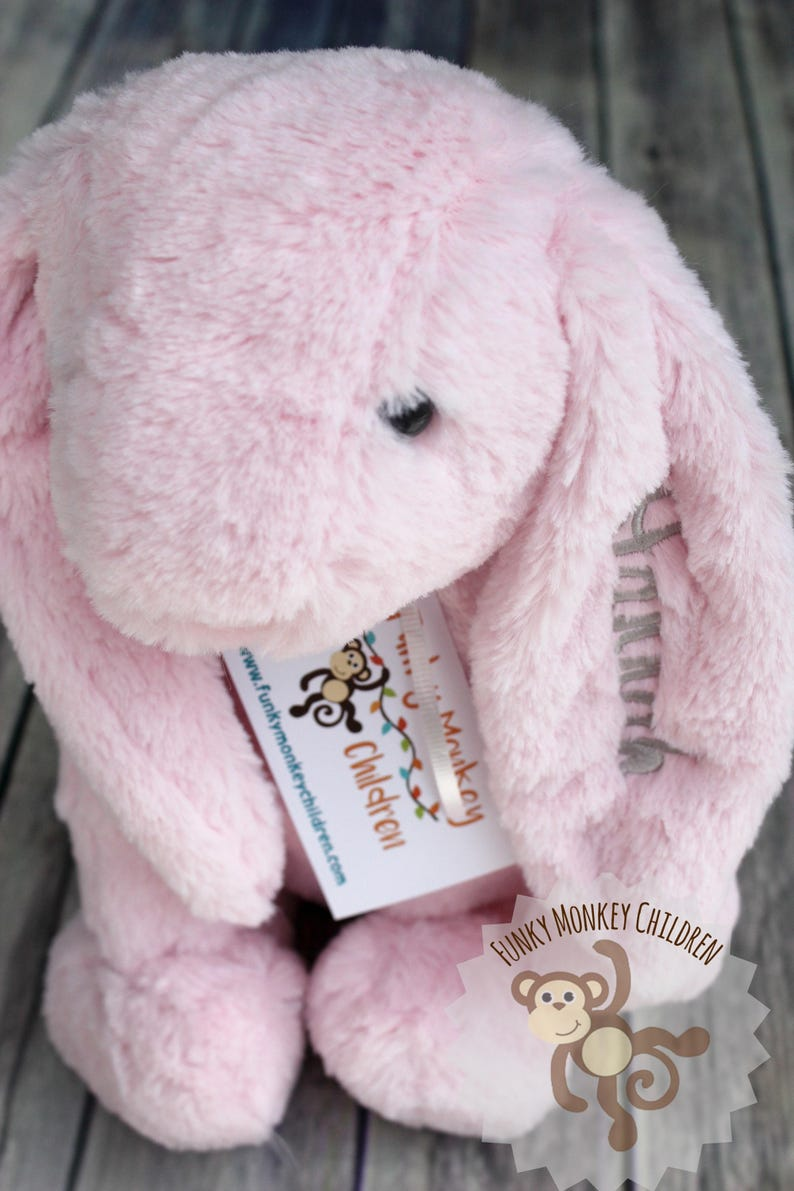 Monogrammed Easter Bunny Monogrammed Bunny Personalized image 0