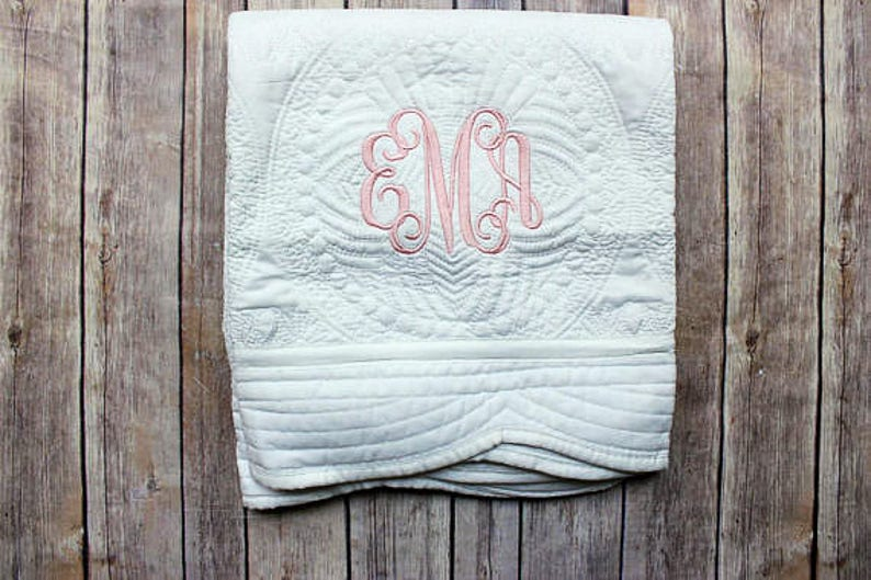 Personalized Baby Quilt Monogrammed Baby Quilt Personalized image 0