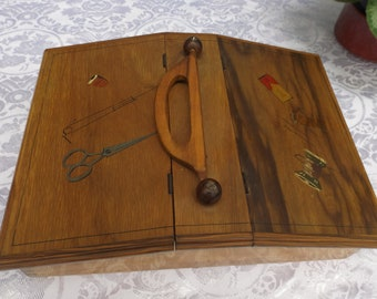 Rare Large Sewing Box Vintage, Box For Needlework, Sewing Storage, Sewing  Cabinet, Casket For Needlework Casket For Sewing Gift Idea.