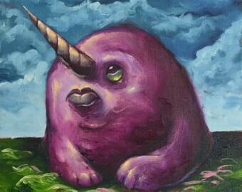 Purple People Eater, oil painting (On Sale!)