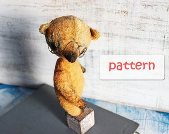 PATTERN for artist bear teddy bear 7.5 inches
