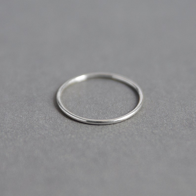 Sterling Silver Plain Band Ring  Handmade 925 Silver image 0