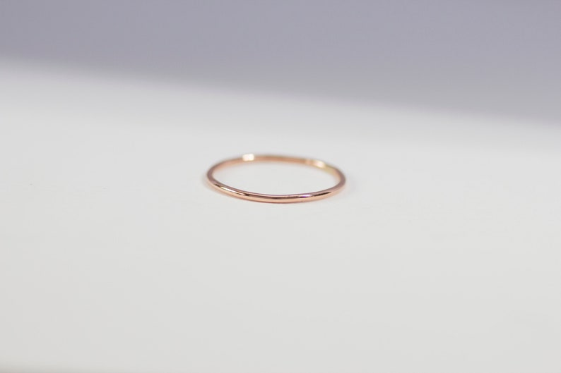 14k Rose Gold Plain Band Ring  Handmade Gold Jewellery image 0