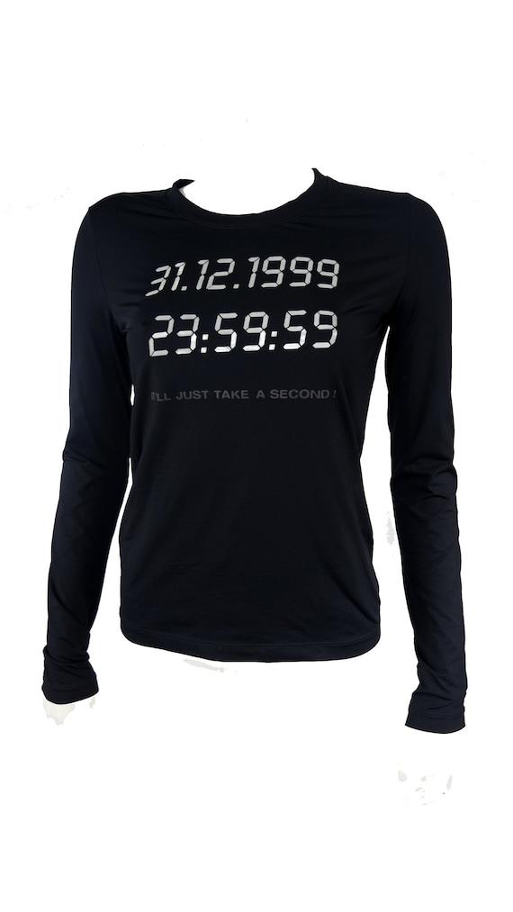 moschino 90s time shirt