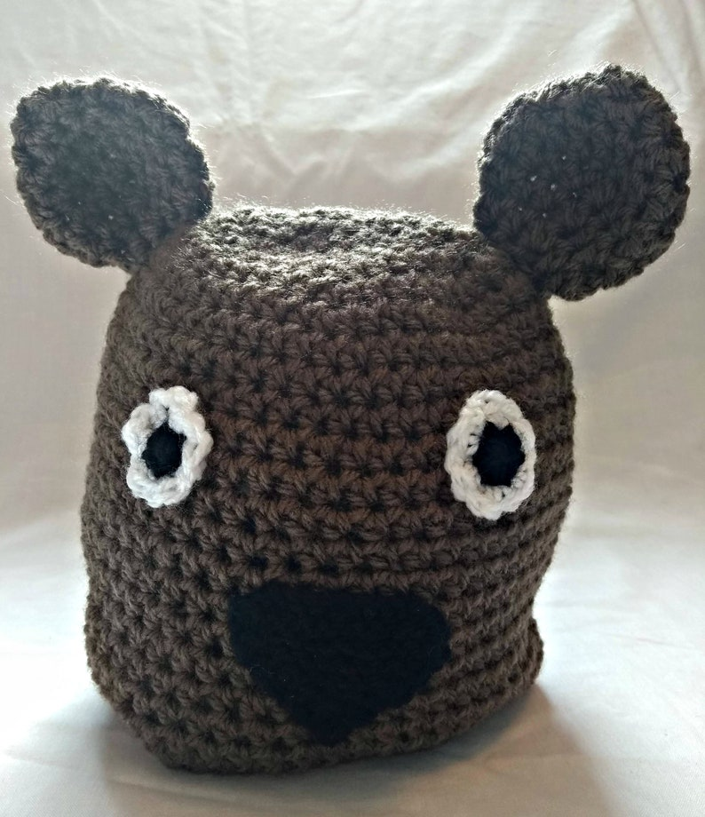a36448920 Teddy Bear Hat, Crochet Beanie, Brown Bear, Bear Hug, Baby Size, Toddler  Size, Child Size, Novelty Gift, Halloween, Christmas, Unisex, Vegan