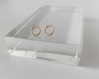 Circle stud minimalist earrings - dainty studs - simple jewelry - everyday jewelry - hannukah - christmas trends - birthday gifts