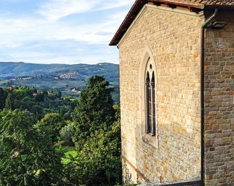 Fiesole monastery - Italy travel photography - Florence - Tuscany - kitchen decor - prints