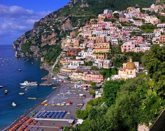 Positano Photography Travel Photography - Beach Photography - Amalfi Coast - Italy - Home Decor - Wall Art - Bedroom Decor