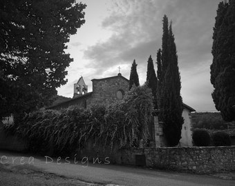 Black and white Italy photography - travel photography - Fiesole - church - kitchen and dining - bedroom - bathroom - wall hanging - Tuscany
