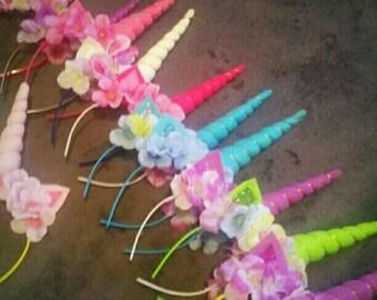 Unicorn headbands party bundle