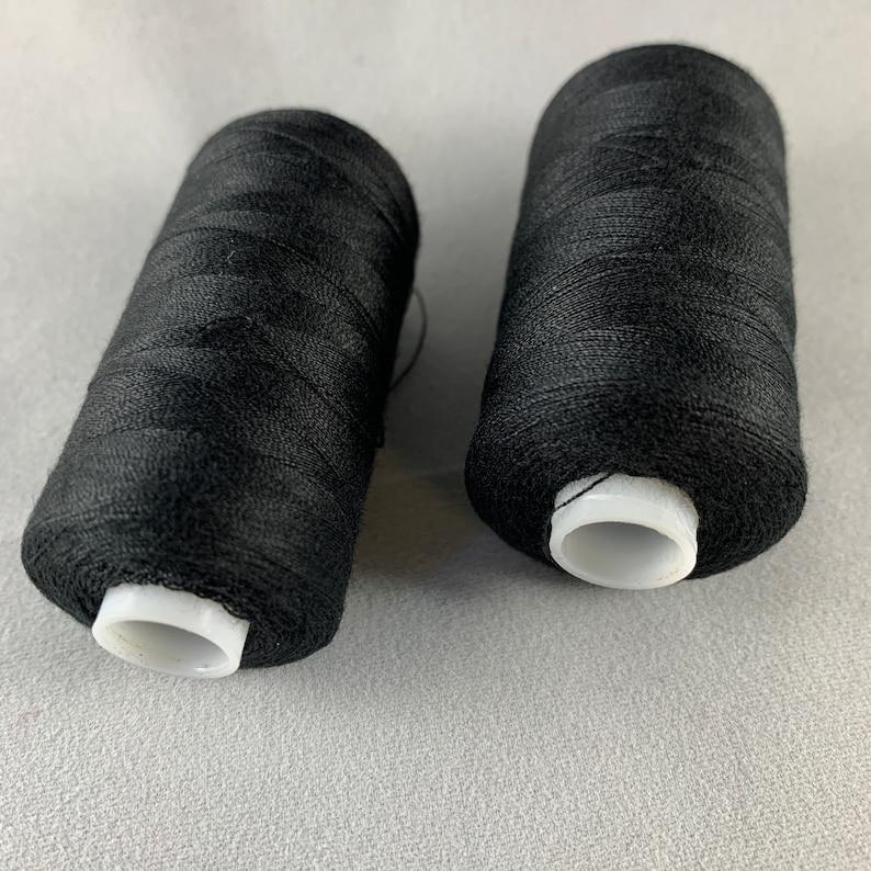 Polyester all purpose thread. Black Sewing Thread 2 spools each 500 m