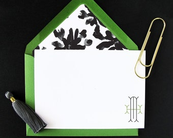Stick Monogram Stationery - set of 15