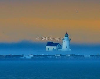 "Lighthouse Fine Art Photograph - ""Sentinel"" - Home Decor Nautical Marine"