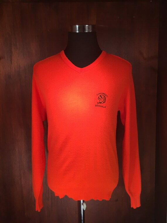de92d94b8 80 s Cincinnati Bengals V-Neck Sweater Men s Size L