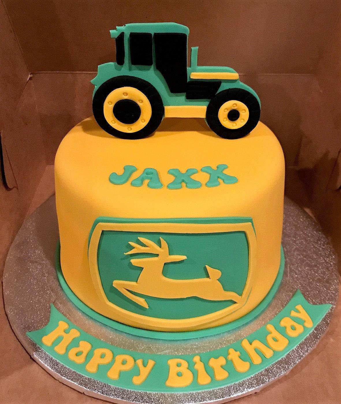 Fondant 2D John Deere cake topper any color customized | Etsy