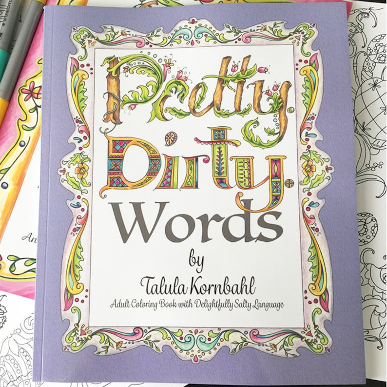 Pretty. Dirty. Words. Adult Coloring Book with delightfully | Etsy