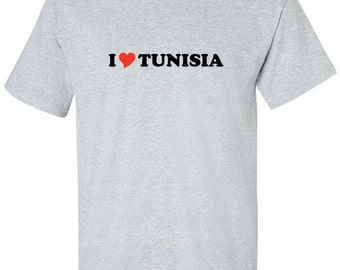 61607d60c48 I Love Tunisia Heart Men Women T-Shirt