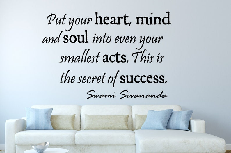 put your heart inspirational motivational vinyl wall decal   etsy