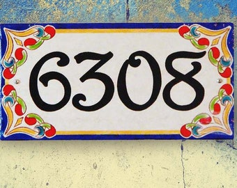 House Number Plaque House Numbers Closing Gift House Sign - Ceramic street numbers