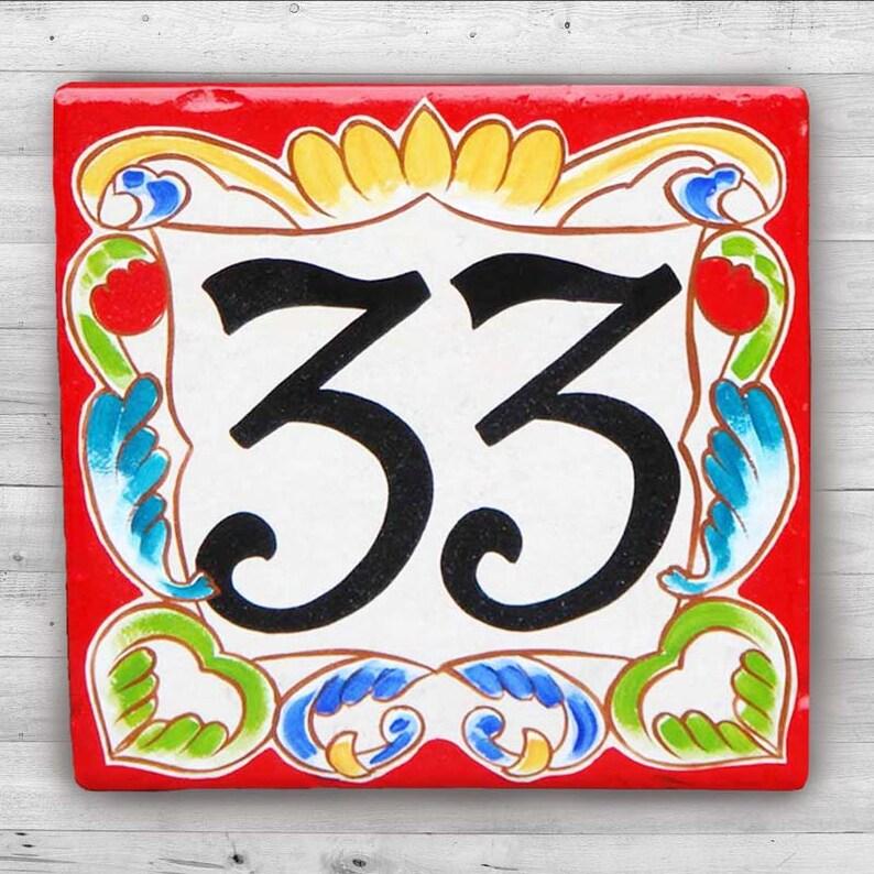 Numeri Civici In Ceramica.Numeri Civici In Ceramica Numero Civico Numero Design Casa Italiana Segno Di Casa Numeri Civici Dimensioni 8 X 8 Bordo Rosso Di Milano Regali