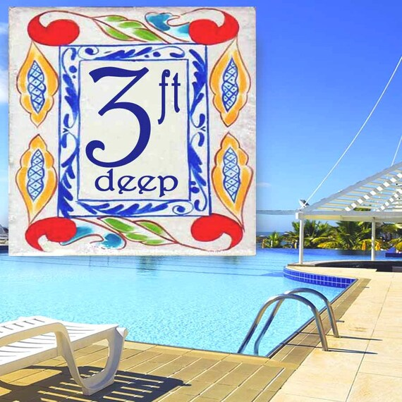 Swimming Pool Marker Depth Marker Any Design To Match Your