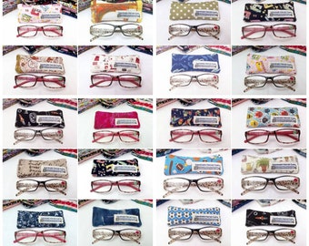 100% Cotton Glasses Case - variety of designs / prints available to choose from