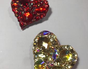 Heart shaped brooch, hair pin