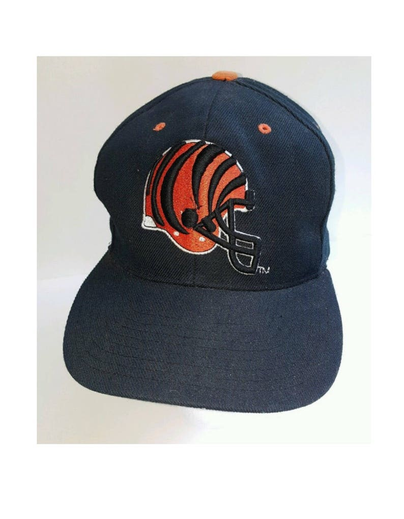 Cincinnati Bengals Vintage NFL 90 s Snapback Hat Black Old  06aa90df8