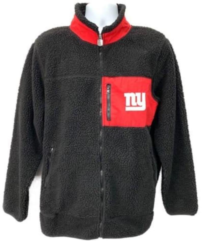super popular 32722 7b9c8 New York Giants NFL Pro Line Fuzzy Fleece Jacket XL NY Black Coat