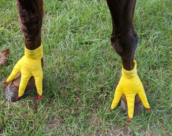 Chicken Feet for Horse or Pony -- Soft Equine Chicken Ornaments - Fun Horse Costume