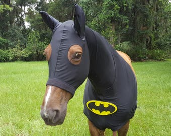 Batman Equine Costume - Superhero Outfit for Pony, Horse or Mule, Equine Halloween Costume