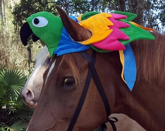 Parrot Hat For Horse Or Pony