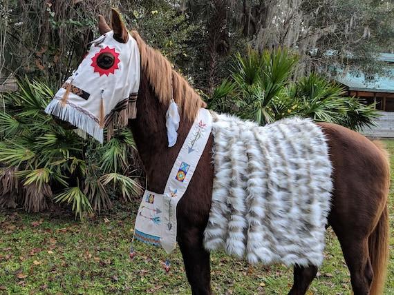 Faux Nordic Fox Fur Horse Blanket Saddle Cover Blanket
