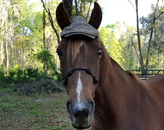 Driving Cap for Horses - Stylish Cloth Hat for Equine - Horse Apparel