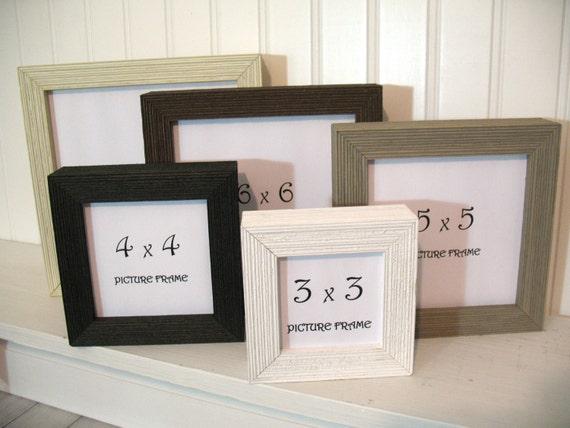 Deep Profile Barnwood Square Frame 3x3 4x4 5x5 6x6 7x7 Black Etsy