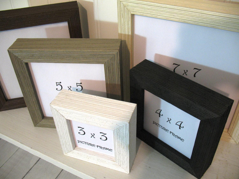 DEEP PROFILE BARNWOOD Square Frame 3x3 4X4 5x5 6x6 7x7 Black