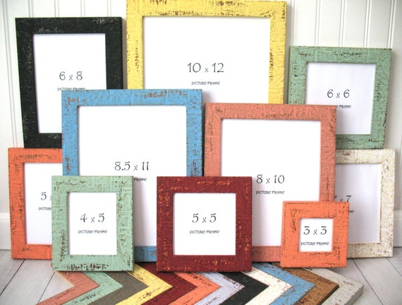COLORFUL BEACHY FRAME 8x10 8.5x11 9x12 11x14 10x12 Nautical | Etsy