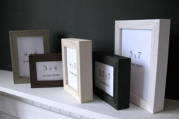 Deep Barnwood Frame 3x4 3x5 35x5 4x5 4x6 5x7 Self Stand Black Etsy