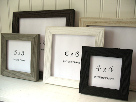 Square Barnwood Frame Black White Rust Brown Grey Cream Etsy