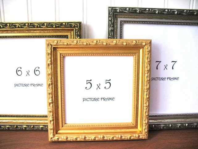 Square Frame Ornate Gilded Antique Gold Silver Picture Etsy
