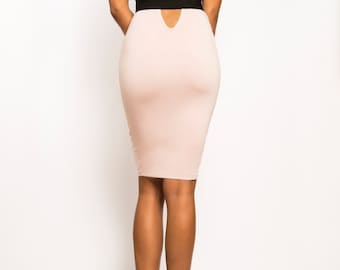b4f272fb8f VANESSA - Backless Cut-Out Cocktail Dress Knee-Length Bodycon Sexy Nude  Black Red White Kim Kardashian Khloe Kourtney Kylie Jenner Kendall