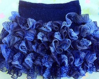 Glam Girl Short Ruffle Skirt Knitting Pattern